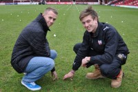 Phil Fifield (right) and Dan Carter at Brentford FC a week before the snow arrived in December