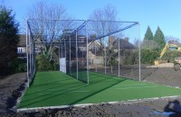 The new cricket practice facility at West Thames College