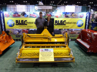 Gary and Sue Mumby with the BLEC Multivator on their      stand at the GIS show, Orlando