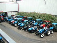 Tractors ready for export