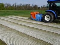 The BLEC GKB Sandfiller in action at Crow Wood Golf Course, Muirhead