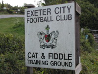 Exeter City FC training ground sign.JPG