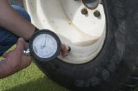 Sprayer set up tyre pressure check mr