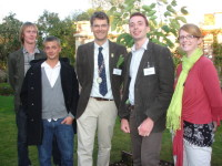 IoH President Leigh Morriswith previous competitors & winners of the IoH Young Horticulturist of the Year