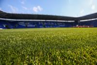 The pristine Desso surface at The Madejski Stadium
