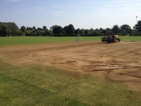 1. Removing the organic matter from the original square, taking off 10 15mm at a time