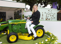 John Deere at RHS Chelsea Flower Show 2013 Zara Phillips