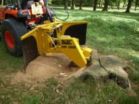 The BLEC compact Stump Grinder in action   Copy
