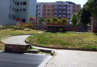 Derelict pocket park in Rome. Is this our future too