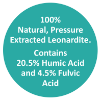 HumiMax is 100% Natural, Pressure Extracted Leonardite. Contains 20.5% Humic Acid and 4.5% Fulvic Acid