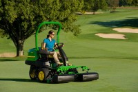The popular 2500E E-Cut Hybrid Riding Greens Mowers have a new alternator that powers the electric drive cutting units.