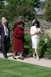 HM The Queen in The Queen Mother Centenary Garden, Capel Manor.jpg