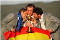 García, Jimenéz and Olazábal celebrate Ryder Cup success