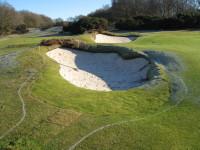 B. Renovated greenside bunkers Alwoodley