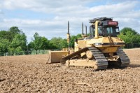 Speedcut working on the first stage of the clay ground at London Maccabi\'sRowley Lane new pitches.JPG