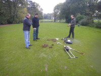 Investigating tee construction materials with an intact soil corer Fulwell GC