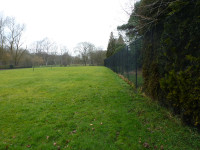 Lawn tennis courts closed due to cut backs in a Manchester park