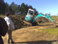 Using a 10 ton digger