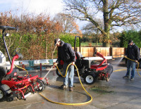 A 2 hose ClearWater system in action