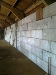 Internal storage wall at Binder Loams\' warehouse