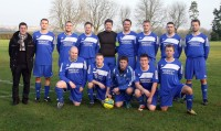 Charlton United FC in their new kit sponsored by Speedcut Contractors of Oxford. Picture by Steve Wheeler, Oxford Mail.