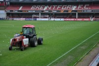 Speedcut\'s Gwazae in action on the Brentford FC pitch in November