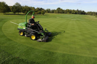 Greens mowing clipping removal