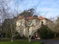 Historic building inside  Manuwatu campus of Massey University