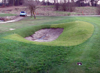 Cavendish hole #4 left hand greenside bunker prior to sand placement 10.03.14