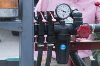 Sprayer set up pressure guage mr