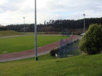 Full size athletic track