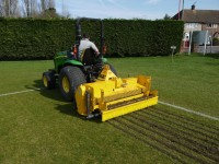 BLEC Multivator  in action on a sports pitch. Going left.