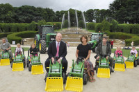 John Deere tractors at The Alnwick Garden.jpg