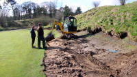 Cavendish GC hole #4 remodelling by Jason Kelly of Greasley\'s 03.03.14