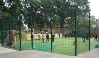 School pupils enjoy a Notts Sport ChildsPlay Active installation