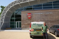 Andy Lloyd at Arsenal Training Centre.JPG