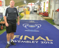 The players entrance carpet