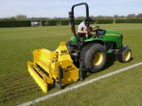 BLEC Multivator in action on a sports pitch.  Going right.