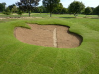 Roehampton   bunker lined with turf(1)
