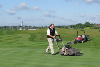 Jim McKenzie Testing Toro Flex 21 for Wales Open 2010.jpg
