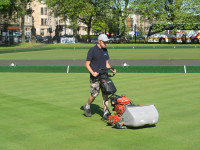 Craig Collins with his ever reliable Jacobsen PGM22