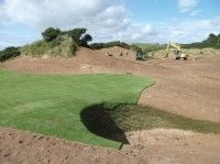 Trumps new golf course on the Aberdeenshire coast near Menie.