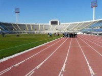National Stadium, Santiago, Chile. This 64,000 seat, multi-use stadium was used for the 1962 Football World Cup and more recently for a Madonna concert in December 2008. It is a soil-over-gravel  field design with a couch/ryegrass ground cover and a very