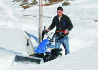 BCS Snow Blower Working