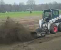 Kevin Hard At It Moving Sand N Silt With Bobcat