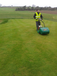paddy cutting the new par 3 green