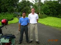 Left - Pak Tatang of Pantai kapuk Golf Course.Right - Alistair MacFadyen of PT. Klabindo Kartagusta Prima.