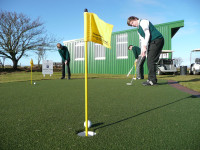 Huxley Golf putting green at Nairn Dunbar jpg