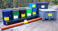 Examples of properly labelled waste containers