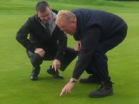 Paul Brannan with greenkeeper